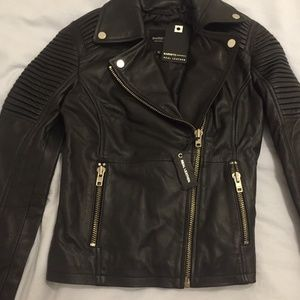 Barney's Original Leather Jacket / Sz 6 *NWT*